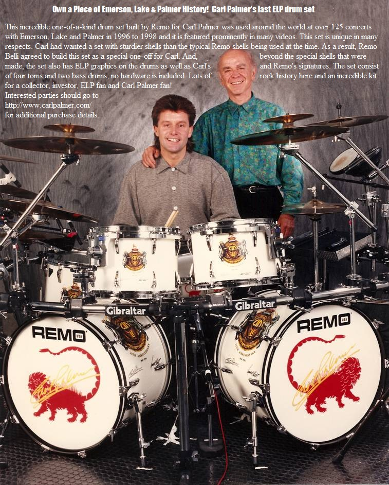 Carl Palmer - Last ELP Drum Set