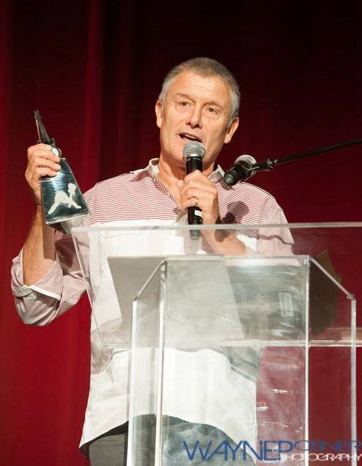 Carl Palmer receives Drum Legend Icon award  		at 2013 Vegas Rocks Awards.